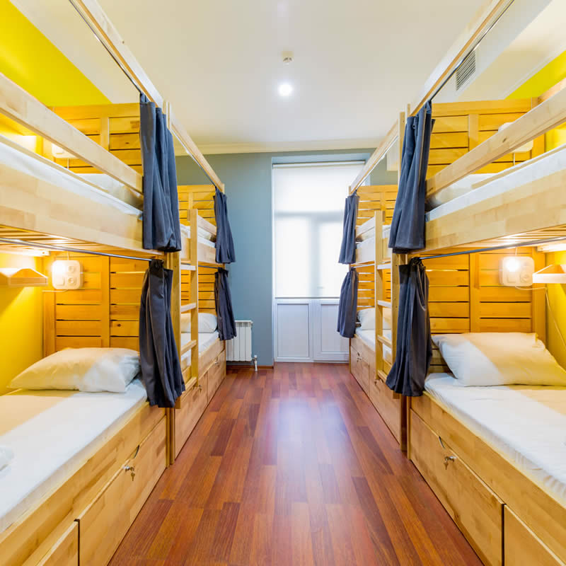 Bed in a 8-bed mixed dorm